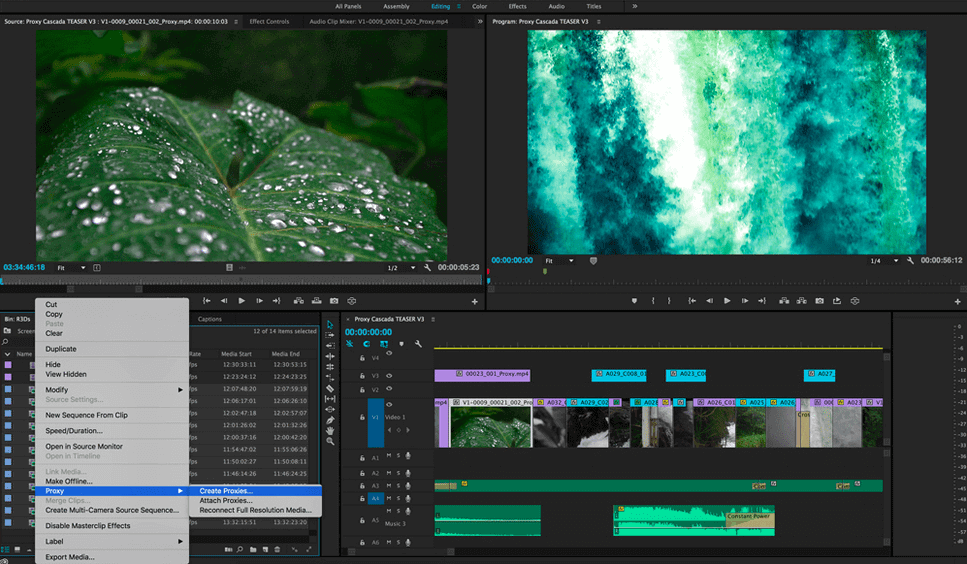 Premiere Proxy Workflow