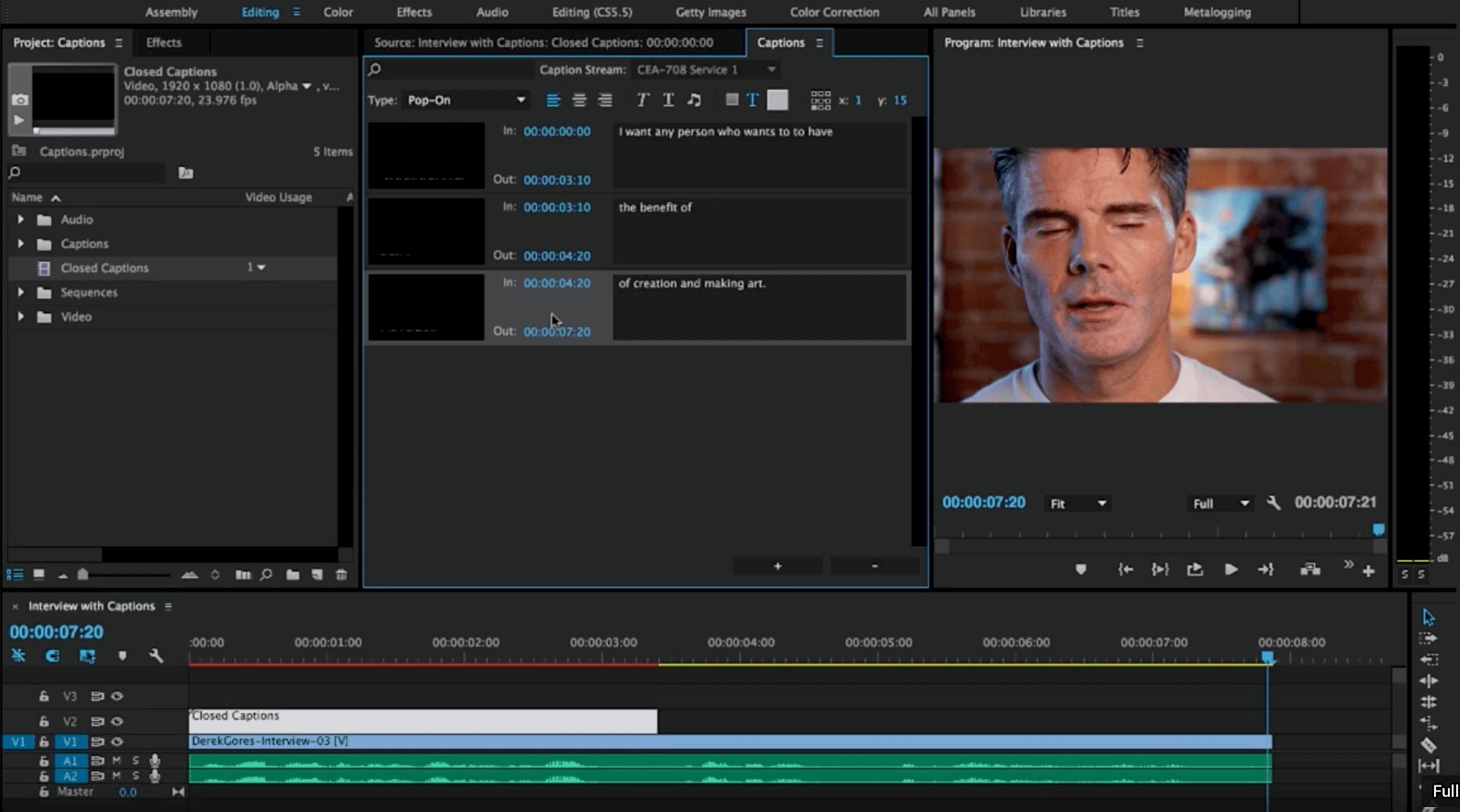 Premiere Pro Captioning Workflow
